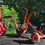 Hochrad und Dreirad